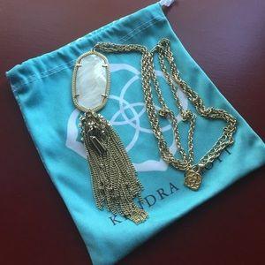 Kendra Scott Rayen Necklace in ivory pearl