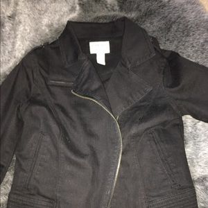 Forever 21 black denim cropped jacket
