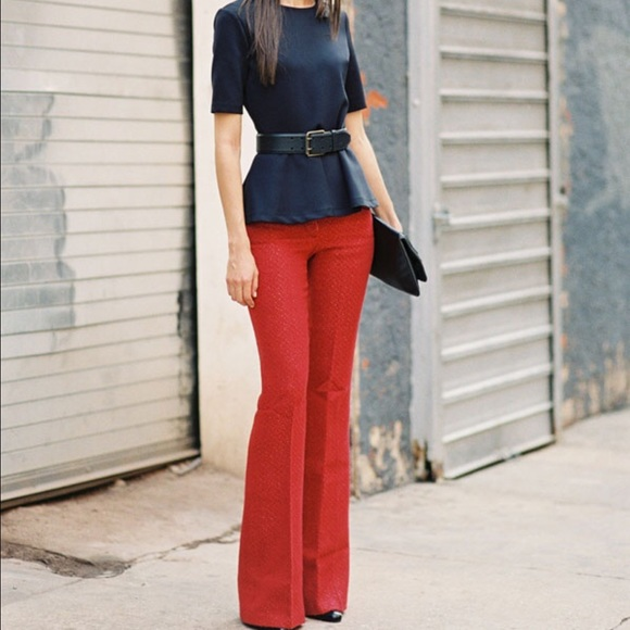Denim - ✨LAST ONE ✨Red wide leg jeans ONE HOUR SALE