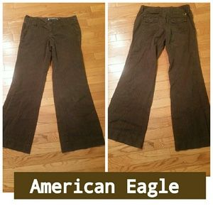 American Eagle Outfitters Pants - SALE🎉American Eagle Brown Pinstriped Trousers