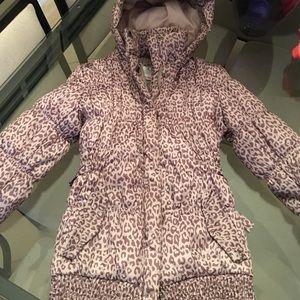exhilaration Jackets & Blazers - Girls winter coat leopard print size small