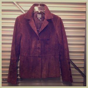VINTAGE Suede Oxblood Jacket