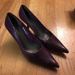 New Purple Nine West Heels, Size 7.5