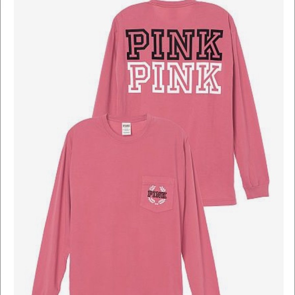 2d184c4e6c Victoria Secret Pink Long Sleeve Shirts Custom Shirt