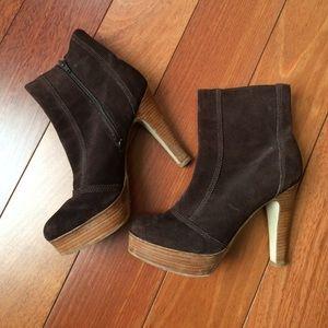 Steve Madden Shoes - Steve Madden Suede Platform Stack Heel Boots 7