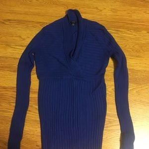 Apt. 9 Tops - Blue ribbed shirt