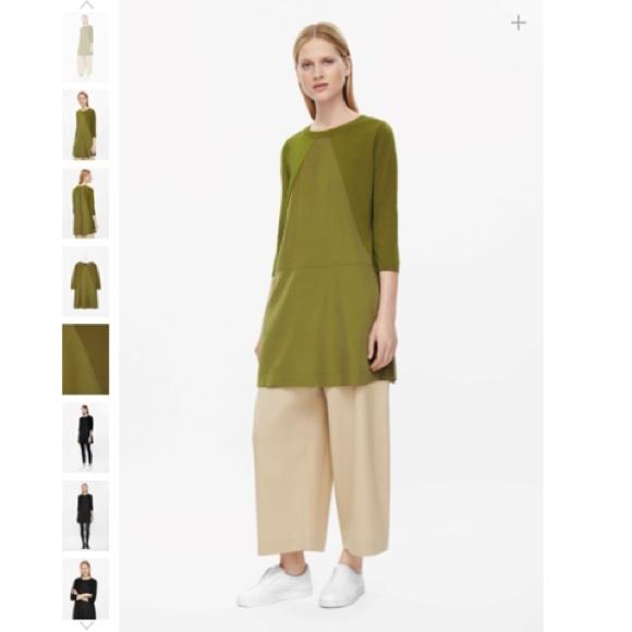 fdb3ccd22c02 COS Dresses | Olive Green Triangle Panel Knit Dress | Poshmark
