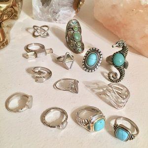 Silver Rings (pick 3)
