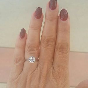 Jewelry - 14K White Gold Solitaire Engagement Ring