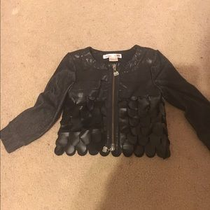 Other - Toddler scalloped leather jacket