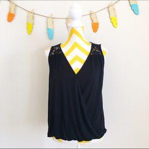 Olivia Moon Tops - 🌟5/$25🌟 Olivia moon black lace detailed tank