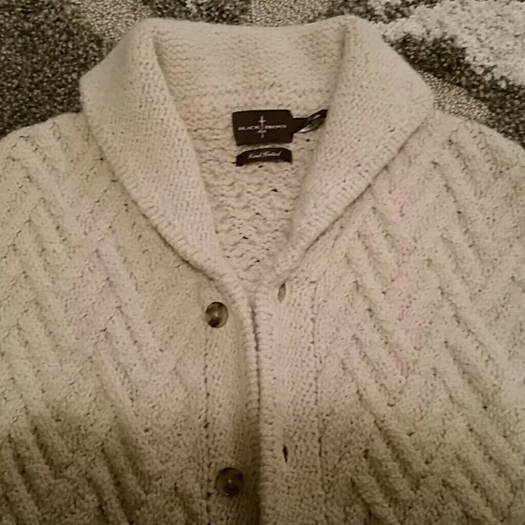 Black Brown 1826 - MEN'S oatmeal colored cardigan from Valerie's ...