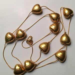 Jewelry - Hearts of gold necklace