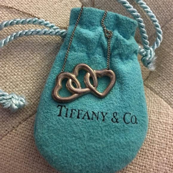 3289b03a390ec Tiffany Three Heart Necklace Sterling Silver