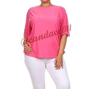 Cape Sleeve Top (Pink)