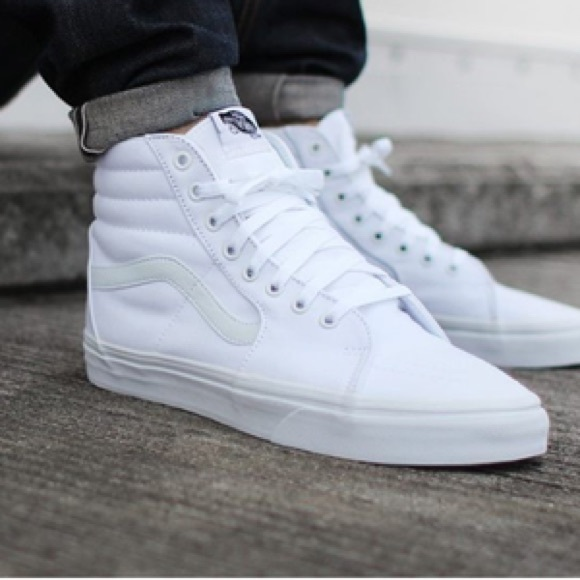 vans shoes high tops white. vans shoes - white high top tops h
