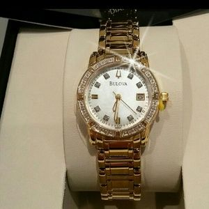 NWT Bulova Women's Yellow gold tone Watch. 2 left