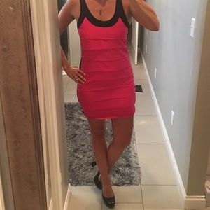 Zara Basic pink and black bandage tank dress SALE