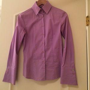 Express Tops Purple Womens Button Down Dress Shirt Poshmark