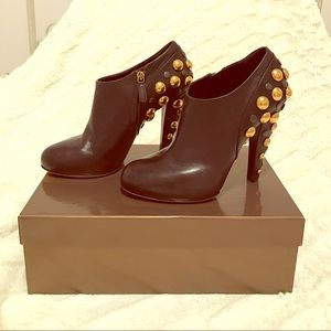 Gucci Shoes - NEW Gucci Brown Booties with Studs
