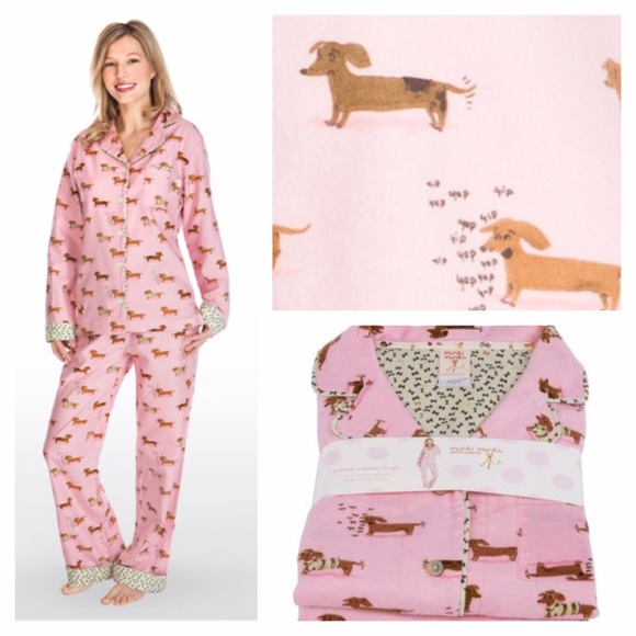 cff28b294b Munki Munki Weiner Dog Dachshund Flannel Pajamas