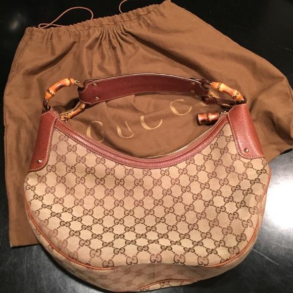 0a56d2e9490c Gucci Handbags - Authentic Gucci Bamboo Purse