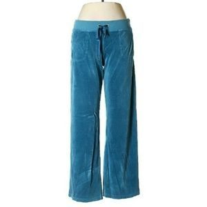 Juicy Couture Pants - Juicy Couture teal velour sweatpants