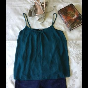 Express Tops - Express teal and shimmery black tank top