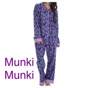 Munki Munki Other - Munki Munki Monkey Print Flannel Pajamas