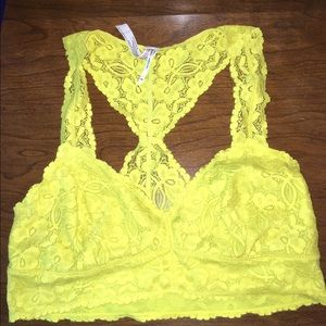 Free people Chartreuse Bralette