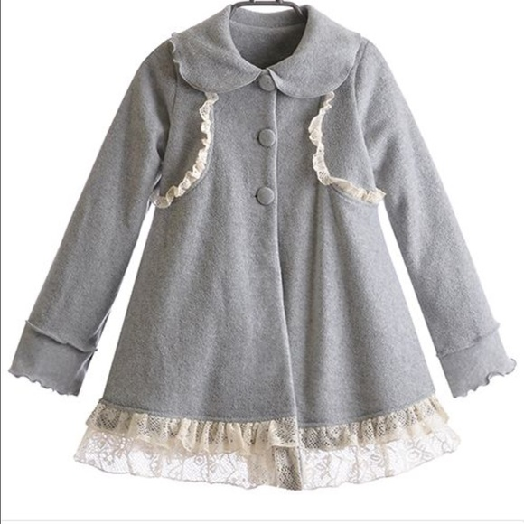 5a8df70a Peaches'n Cream Toddler Girl Coat With Lace. NWT