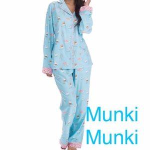 Munki Munki Other - Munki Munki Coffee & Donut Flannel Pajamas