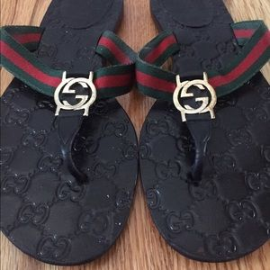 00c640e8b Gucci Shoes - Gucci GG thong Web sandal
