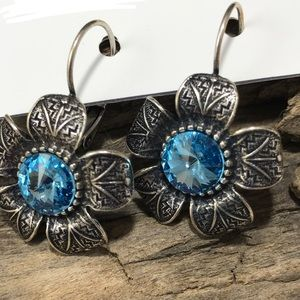 Jewelry - Handcrafted earrings with Swarovski crystal #17