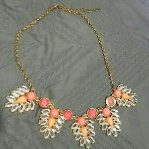 Coral and Orange Statement Necklace
