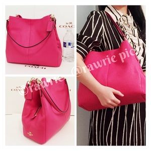 SALE New Coach pebbled leather slouchy phoebe hobo