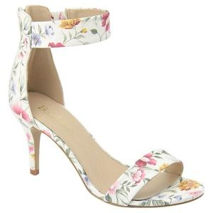 Shoes - ✅LAST ONE! Size 5.5 Floral Ankle Strap Heel