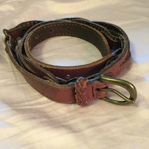 Accessories - Soft leather belt with braids. size M