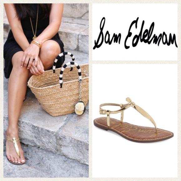 ae9685437864 Sam Edelman  Gigi  thong sandal. M 57fc98a82ba50ae36b011159
