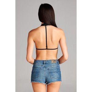 375b105003 Hannah Beury Intimates   Sleepwear - Black Lace Halter Neck Bralette