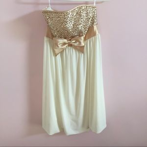 Jessica McClintock Dresses & Skirts - Gold Sequin Dress