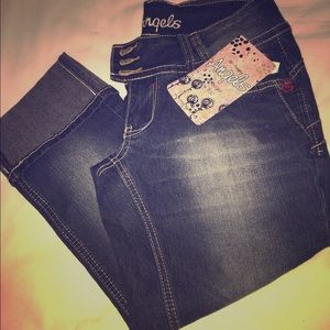 Juniors Angel Capris Jeans Size 5 Brand New