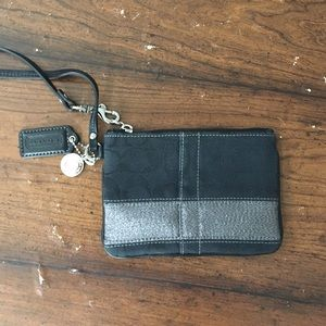 Coach Handbags - Coach Black Wristlet