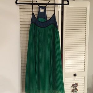 Flowy green and blue dress