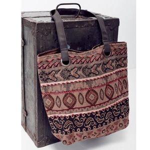 Southern Girl Fashion Handbags - EMBELLISHED BAG Vegan Leather Carryall Earthy Tote