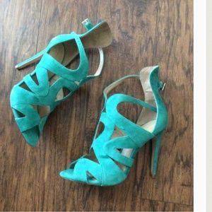 New Gorgeous suede heeled sandals