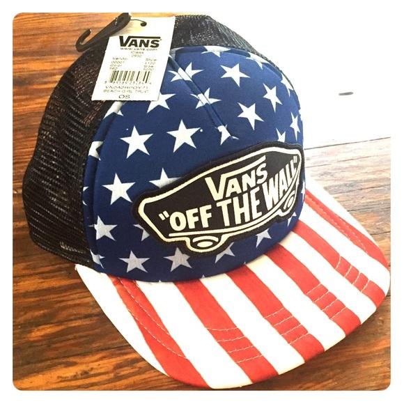 Vans American Flag Snapback Hat 9aefe0d40e4