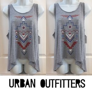 Urban Outfitters Tops -   Project Social T   Gray Aztec Burnout Tank