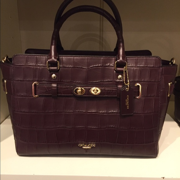 2ee3576411a Coach Bags   Auth Nwt Embossed Croc Blake Carryall Bag Oxblood ...