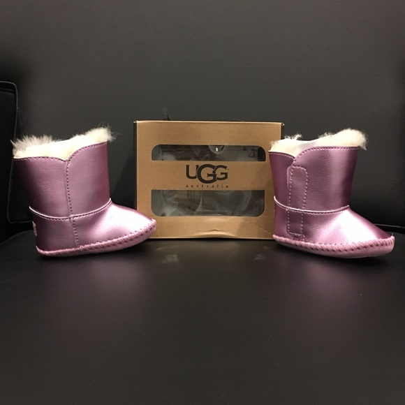 fe17723e6f1 Cassie metallic baby Uggs in pink